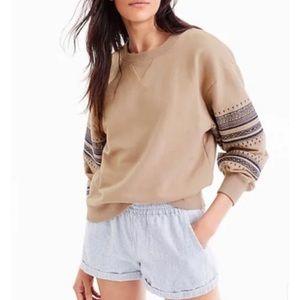 J. Crew Embroidered Sweatshirt